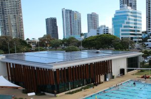 Gold Coast Aquatic Centre - Commercial Solar InstallationGold Coast Aquatic Centre - Commercial Solar Installation